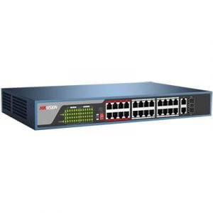 DS-3E0326P-E 24-ports 100Mbps Unmanaged PoE Switch