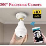 360 Degree Panorama Wifi IP light-bulb Spy Surveillance Cam