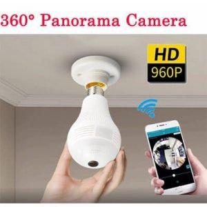 360 Degree Panorama Wifi IP light-bulb Spy Surveillance Cam