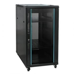 22U Wall Mount Network Server Cabinet Rack - Black