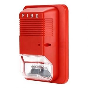 Fire Alarm Siren Strobe System Sensor Sound and Flash Light 24V