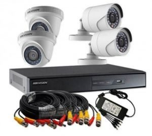 4-Ch IP HD Mini Network Video Recorder Kit consisting of: 2 units of 2MP dome and bullet each 4-CH NVR + 1 TB Hard drive 4 pieces Cable Roll, 15 Meters Each 1 piece Power Supply 4 Channel for installation of the four cameras Category: Hikvision Network Cameras