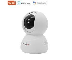 LS VISION Mini Smart Tuya Two Way Audio Motion Detection Alarm System 2MP 1080P HD Infrared Wifi 360 Panoramic PTZ IP Camera for Home Security 5