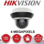 HIKVISION 4MP IR NETWORK INDOOR/OUTDOOR PTZ CAMERA WITH AUDIO